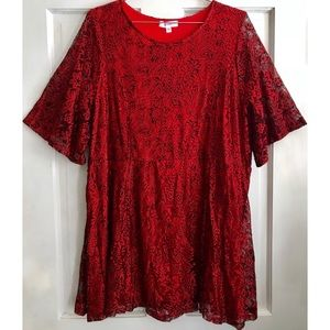 Simply Be Tops - SIMPLY BE Lace Tunic Top